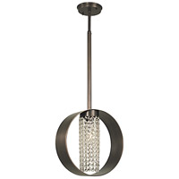 HA Framburg Gemini 1 Light Pendant in Siena Bronze with Clear Crystal 2441SBR/C