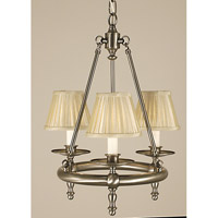 HA Framburg Sheraton 3 Light Bath Light in Brushed Nickel 2453BN