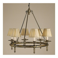 HA Framburg Sheraton 6 Light Bath Light in Antique Brass 2456AB