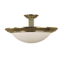 HA Framburg Architectural 2 Light Ceiling Mount in French Brass with Sandblasted Alabaster Acrylic Shade 2467FB/SA