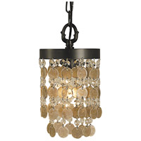 HA Framburg Naomi 1 Light Pendant in Mahogany Bronze 2480MB