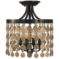 Naomi 4 Light 12 inch Mahogany Bronze Semi-Flush Mount Ceiling Light