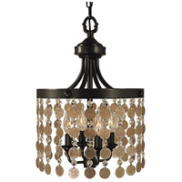 Naomi 4 Light 12 inch Mahogany Bronze Mini Chandelier Ceiling Light