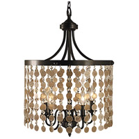 HA Framburg Naomi 5 Light Chandelier in Mahogany Bronze 2485MB