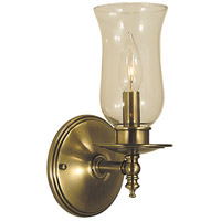 Sheraton 1 Light 6 inch Antique Brass Bath Light Wall Light