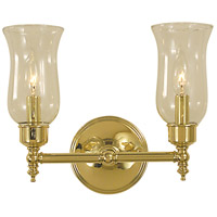 Sheraton 2 Light 13 inch Polished Brass Bath Light Wall Light