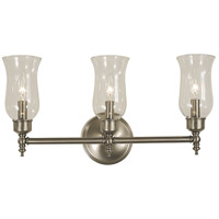 Sheraton 3 Light 20 inch Brushed Nickel Sconce Wall Light