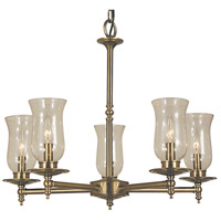 HA Framburg Sheraton 5 Light Chandelier in Antique Brass 2505AB