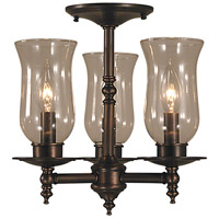 Sheraton 3 Light 13 inch Siena Bronze Semi-Flush Mount Ceiling Light in Sienna Bronze