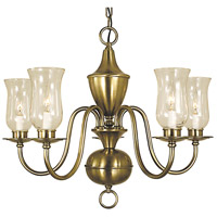 HA Framburg Jamestown 5 Light Chandelier in Antique Brass 2545AB