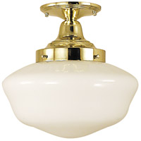 Taylor 1 Light 12 inch Polished Brass Semi-Flush Mount Ceiling Light
