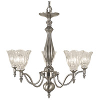 HA Framburg Geneva 5 Light Chandelier in Brushed Nickel 2845BN