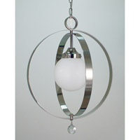 HA Framburg Moderne 1 Light Dining Chandelier in Polished Silver 2851PS