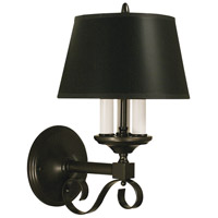 HA Framburg Taylor 3 Light Bath and Sconce in Mahogany Bronze with Black Shade 2854MB/B