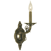 Napoleonic 1 Light 8 inch French Brass Bath and Sconce Wall Light