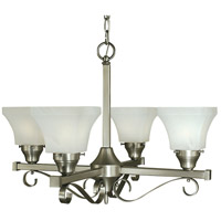 HA Framburg Taylor 4 Light Dining Chandelier in Brushed Nickel 2884BN