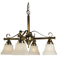 HA Framburg Taylor 4 Light Dinette Chandelier in Antique Brass 2888AB photo thumbnail