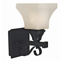 HA Framburg Taylor 1 Light Bath and Sconce in Matte Black 2891MBLACK
