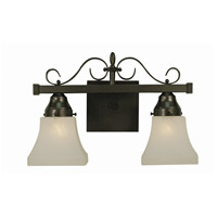 Taylor 2 Light 15 inch Mahogany Bronze Bath and Sconce Wall Light