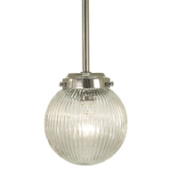 HA Framburg Architectural 1 Light Pendant in Polished Nickel 2908PN