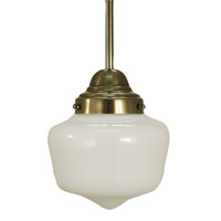 HA Framburg Architectural 1 Light Pendant in Antique Brass 2912AB