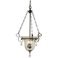Carcassonne 3 Light 18 inch Mahogany Bronze Foyer Chandelier Ceiling Light