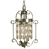 HA Framburg Naomi 1 Light Mini Chandelier in Brushed Nickel 2921BN
