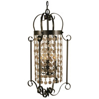 HA Framburg Naomi 5 Light Foyer Chandelier in Mahogany Bronze 2925MB