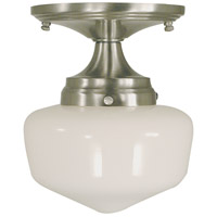 Taylor 1 Light 6 inch Brushed Nickel Semi-Flush Mount Ceiling Light