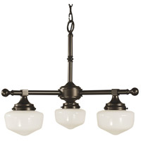 HA Framburg Taylor 3 Light Dinette Chandelier in Mahogany Bronze 2933MB