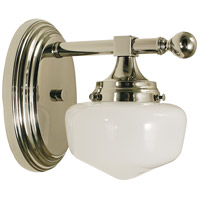HA Framburg Taylor 1 Light Bath and Sconce in Polished Nickel 2937PN photo thumbnail