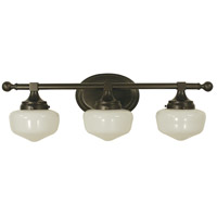 Taylor 3 Light 24 inch Mahogany Bronze Sconce Wall Light