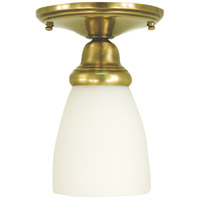 Taylor 1 Light 5 inch Antique Brass Semi-Flush Mount Ceiling Light