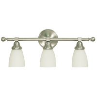 HA Framburg Taylor 3 Light Bath and Sconce in Brushed Nickel 2943BN