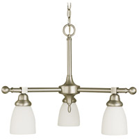 Framburg 2946BN Taylor 3 Light 24 inch Brushed Nickel Dinette Chandelier Ceiling Light