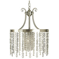 HA Framburg Penelope 1 Light Dining Chandelier in Brushed Nickel 2954BN
