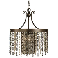 HA Framburg Penelope 4 Light Dining Chandelier in Mahogany Bronze 2958MB