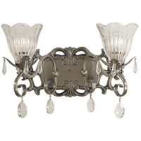 HA Framburg Liebestraum 2 Light Bath and Sconce in Brushed Nickel 2962BN