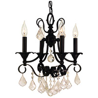 HA Framburg Liebestraum 4 Light Mini Chandelier in Matte Black 2974MBLACK