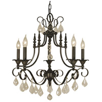 HA Framburg Liebestraum 6 Light Dining Chandelier in Mahogany Bronze 2975MB