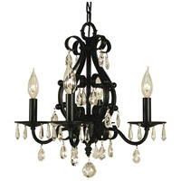 HA Framburg Liebestraum 4 Light Mini Chandelier in Matte Black 2984MBLACK