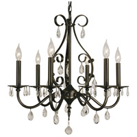 Framburg 2986MB Liebestraum 6 Light 24 inch Mahogany Bronze Dining Chandelier Ceiling Light