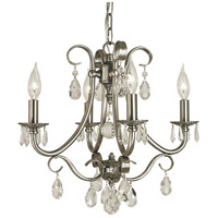 HA Framburg Liebestraum 4 Light Mini Chandelier in Brushed Nickel 2994BN