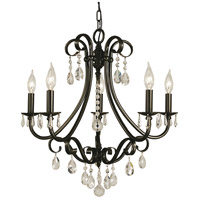 Liebestraum 5 Light 23 inch Mahogany Bronze Dining Chandelier Ceiling Light