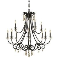 HA Framburg Liebestraum 12 Light Foyer Chandelier in Mahogany Bronze 2997MB