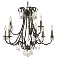 Framburg 2999MB Liebestraum 9 Light 27 inch Mahogany Bronze Dining Chandelier Ceiling Light