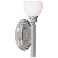 HA Framburg Belmont 1 Light Bath Light in Polished Silver 3011PS photo thumbnail
