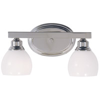 HA Framburg Belmont 2 Light Bath Light in Polished Silver 3012PS