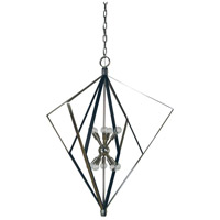 Zoe 10 Light 37 inch Polished Nickel and Matte Black Foyer Chandelier Ceiling Light