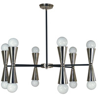 Equinox 12 Light 32 inch Brass Nickel and Matte Black Dining Chandelier Ceiling Light